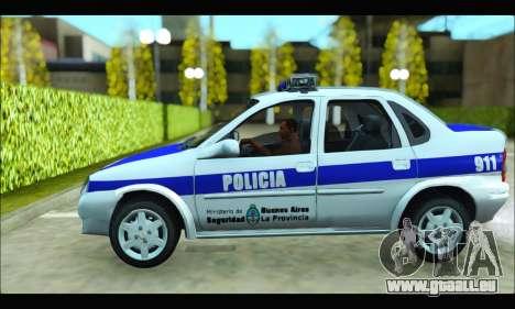 Chevrolet Corsa Policia Bonaerense pour GTA San Andreas laissé vue