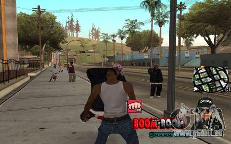 C-HUD Boom-Boom pour GTA San Andreas troisième écran