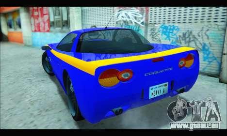 Coquette (GTA IV) pour GTA San Andreas sur la vue arrière gauche