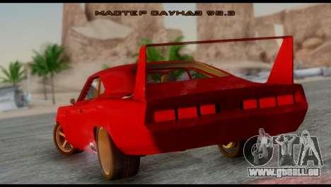 Dodge Charger Daytona pour GTA San Andreas laissé vue
