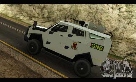 Oshkosh Sand Cat GNB pour GTA San Andreas vue arrière