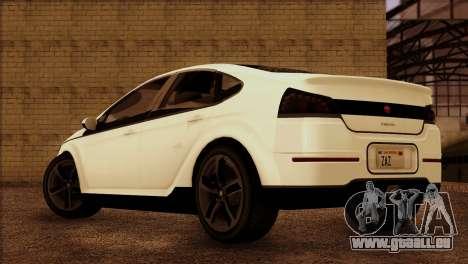 Cheval Surge 1.1 (HQLM) pour GTA San Andreas sur la vue arrière gauche