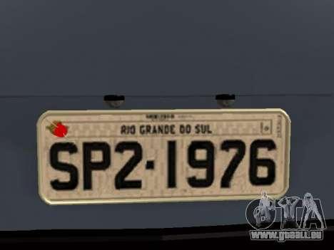 Volkswagen SP2 Original pour GTA San Andreas vue de dessus