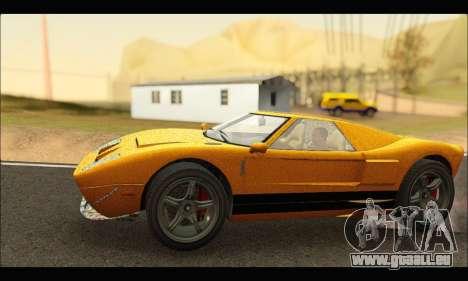 Vapid Bullet Gt (GTA IV) (Stickers Edition) pour GTA San Andreas sur la vue arrière gauche