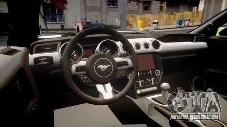Ford Mustang GT 2015 Custom Kit gray stripes pour GTA 4 est une vue de l'intérieur