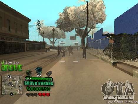 C-HUD Grove Street für GTA San Andreas sechsten Screenshot