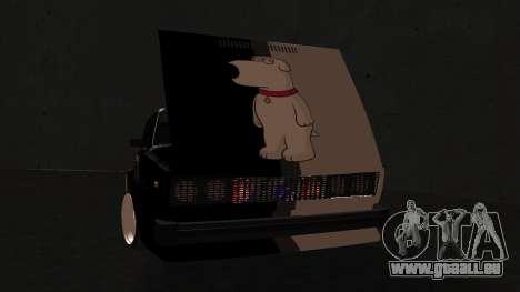 VAZ 2105 cookie monster für GTA San Andreas zurück linke Ansicht