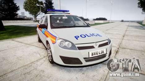 Vauxhall Astra 2010 Police [ELS] Whelen Liberty pour GTA 4