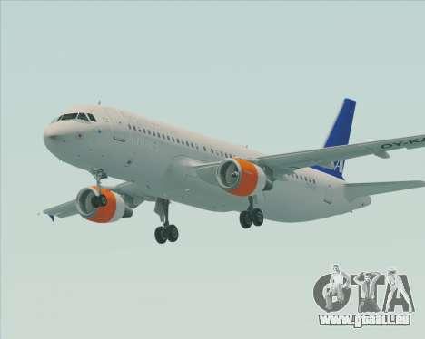 Airbus A320-200 Scandinavian Airlines - SAS für GTA San Andreas linke Ansicht