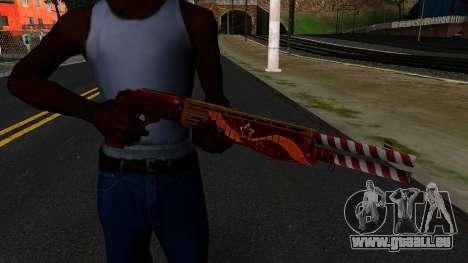 Noël Fusil De Combat pour GTA San Andreas troisième écran