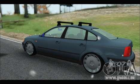 VW Passat pour GTA San Andreas sur la vue arrière gauche