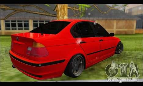 BMW e46 Sedan V2 pour GTA San Andreas vue de droite