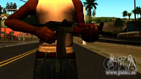 Sombre AKS-74U v1 pour GTA San Andreas troisième écran