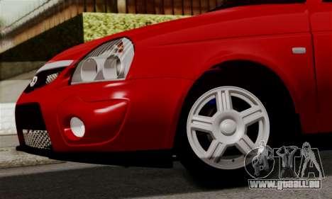 Lada Priora Sport pour GTA San Andreas vue intérieure