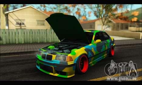 BMW M3 E36 Camo Style für GTA San Andreas rechten Ansicht