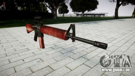 Die M16A2 Gewehr [optisch] rot für GTA 4