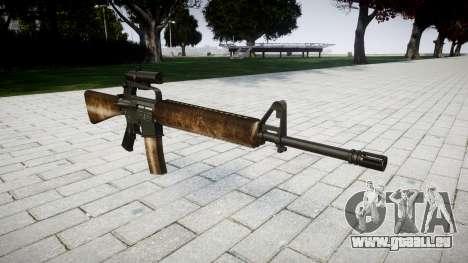 Die M16A2 Gewehr [optisch] dusty für GTA 4