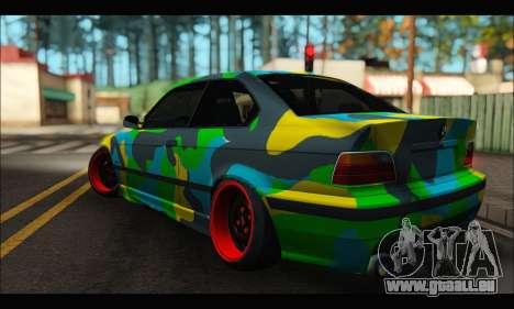 BMW M3 E36 Camo Style pour GTA San Andreas laissé vue