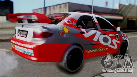 Toyota Vios TRD Racing v2 für GTA San Andreas linke Ansicht