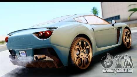 GTA 5 Grotti Carbonizzare v3 (IVF) pour GTA San Andreas laissé vue