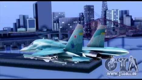 SU-34 Fullback pour GTA San Andreas laissé vue
