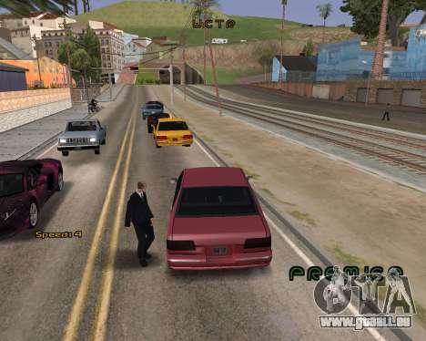 Car Speed pour GTA San Andreas deuxième écran