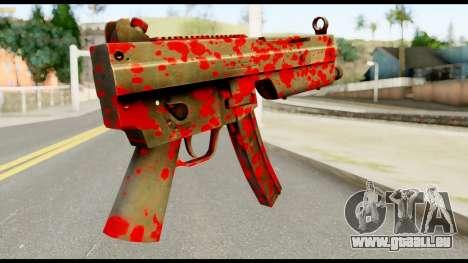 MP5 with Blood für GTA San Andreas zweiten Screenshot