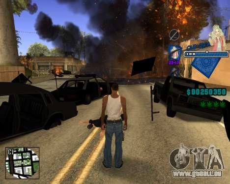 C-HUD Old Rifa pour GTA San Andreas quatrième écran