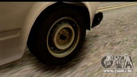 VAZ 2107 DPS pour GTA San Andreas vue intérieure