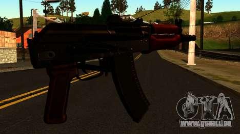 Dunkle AKS-74U v2 für GTA San Andreas zweiten Screenshot