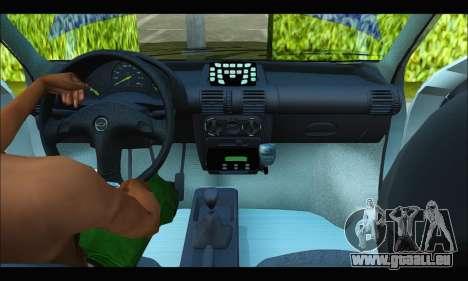 Chevrolet Corsa Policia Bonaerense pour GTA San Andreas vue intérieure