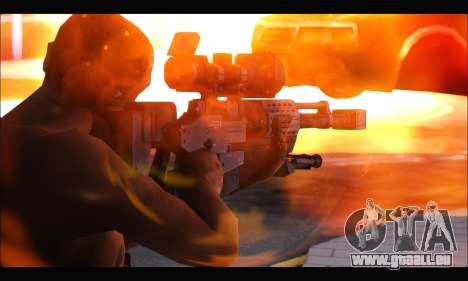 Raab KM50 Sniper Rifle From F.E.A.R. 2 für GTA San Andreas zweiten Screenshot