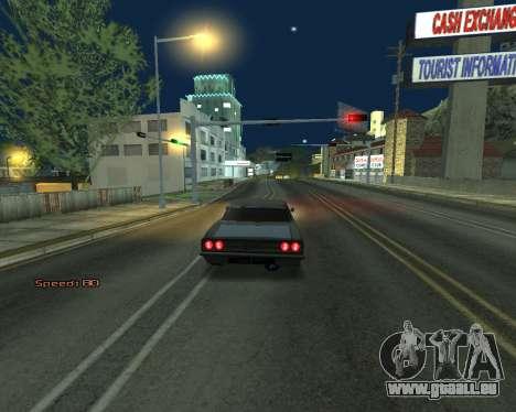 Car Speed pour GTA San Andreas quatrième écran