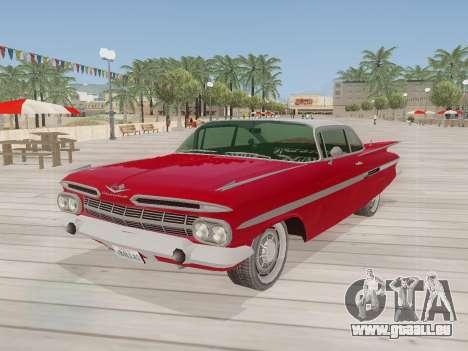 Chevrolet Impala 1959 pour GTA San Andreas laissé vue
