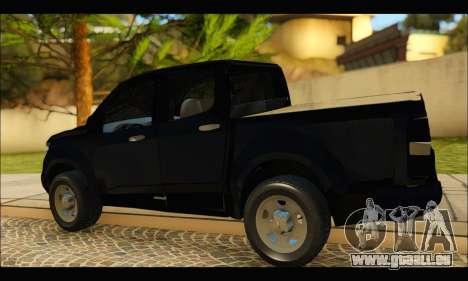 Chevrolet S10 LS 2013 pour GTA San Andreas sur la vue arrière gauche