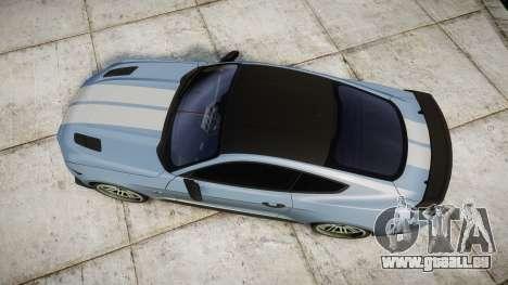 Ford Mustang GT 2015 Custom Kit gray stripes pour GTA 4 est un droit
