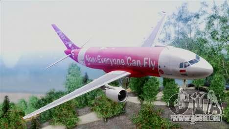 Air Asia Airbus A320 PK-AZF für GTA San Andreas zurück linke Ansicht