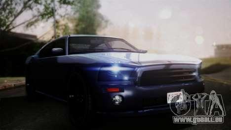 Bravado Buffalo Sedan v1.0 (HQLM) pour GTA San Andreas sur la vue arrière gauche