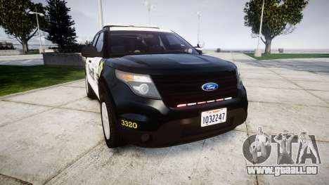 Ford Explorer 2013 County Sheriff [ELS] pour GTA 4