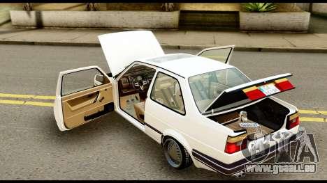 Volkswagen Jetta A2 Coupe für GTA San Andreas Rückansicht