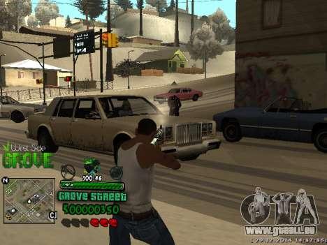 C-HUD Grove Street pour GTA San Andreas quatrième écran