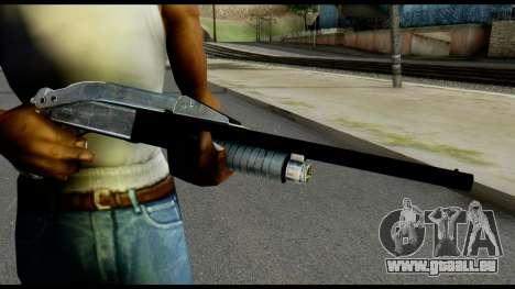 Pump Shotgun from Max Payne pour GTA San Andreas troisième écran