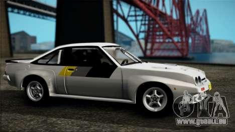 Opel Manta 400 pour GTA San Andreas sur la vue arrière gauche