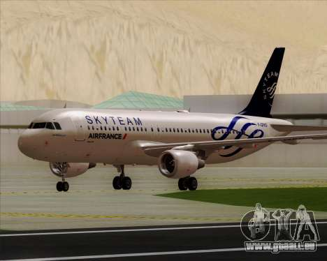 Airbus A320-200 Air France Skyteam Livery pour GTA San Andreas laissé vue