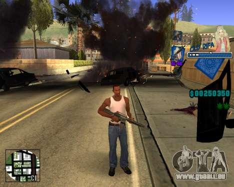 C-HUD Old Rifa pour GTA San Andreas troisième écran