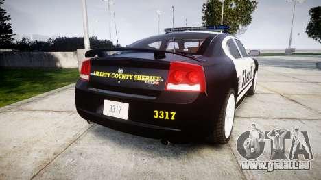 Dodge Charger SRT8 2010 Sheriff [ELS] rambar für GTA 4 hinten links Ansicht
