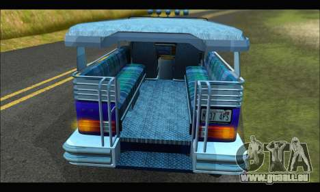 Jeepney from Binan pour GTA San Andreas vue intérieure
