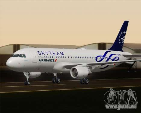 Airbus A320-200 Air France Skyteam Livery für GTA San Andreas obere Ansicht