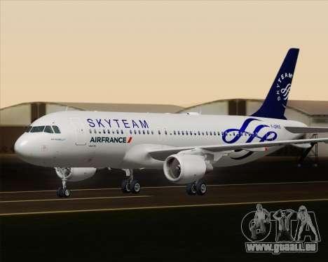 Airbus A320-200 Air France Skyteam Livery pour GTA San Andreas vue de dessus