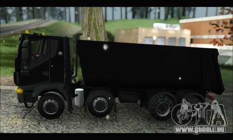 Iveco Trakker 2014 Tipper Snow (IVF & ADD) für GTA San Andreas linke Ansicht